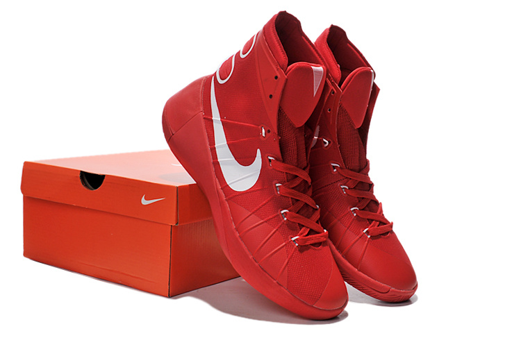 the latest a2577 eacd9 Men NIKE Hyperdunk 2015 Red White Basketball Shoes