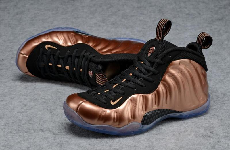 Men Nike Air Foamposite One Copper Black Basketball Shoes