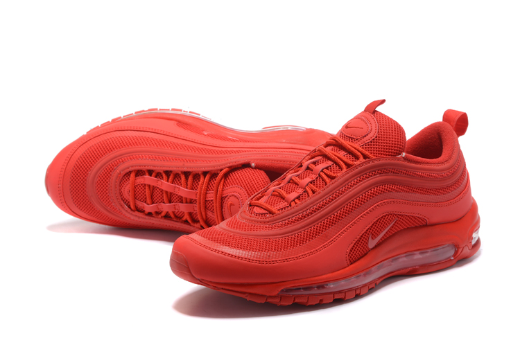 Men Nike Air Max 97 All Red Shoes