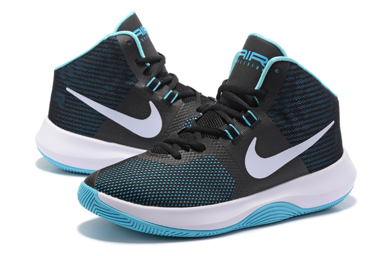 Men Nike Air Precision 2017 Black Blue White Shoes