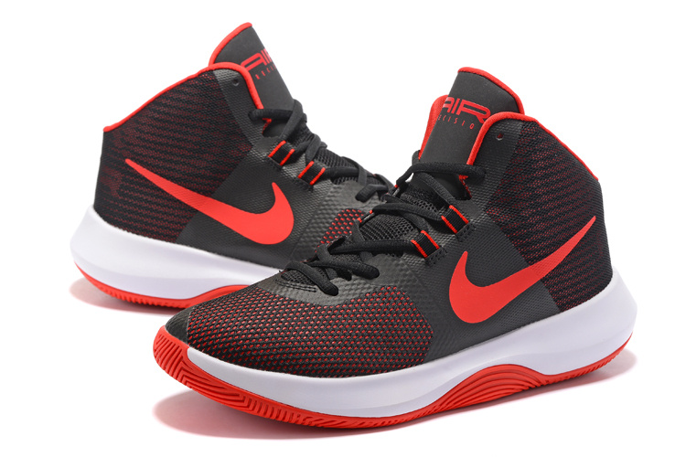 Men Nike Air Precision 2017 Black Red White Shoes