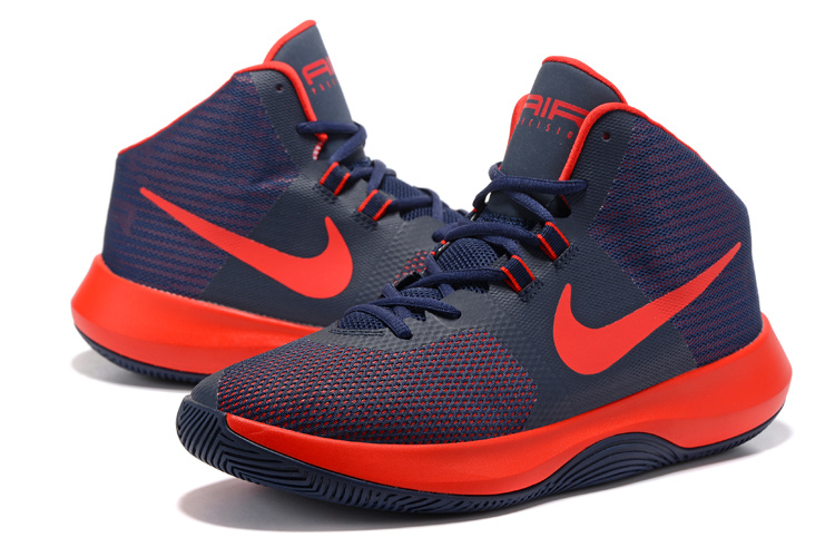 Men Nike Air Precision 2017 Deep Blue Reddish Orange Shoes