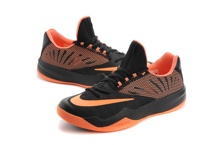 Men Nike Air Zoom The One Black Orange Basketball Shoes