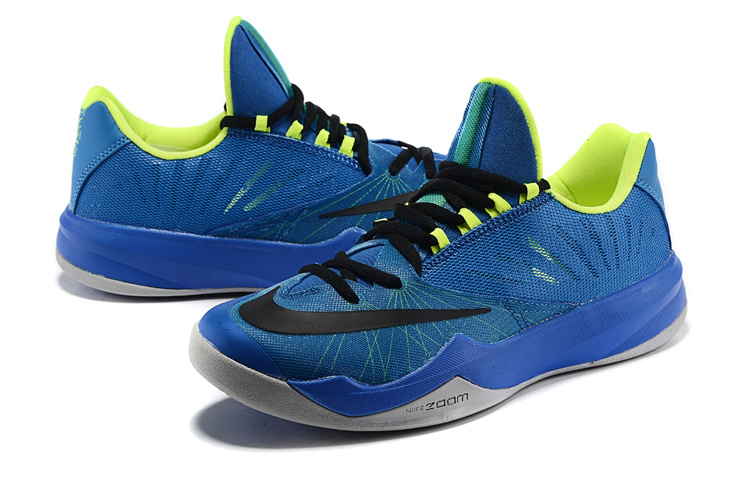 Men Nike Air Zoom The One Blue Black Green Basketball Shoes