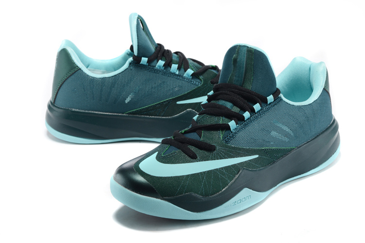 Men Nike Air Zoom The One Jade Blue Black Basketball Shoes