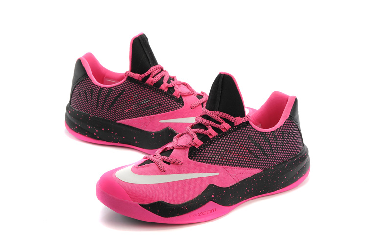 Men Nike Air Zoom The One Pink Black Basketball Shoes