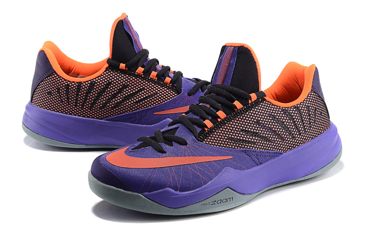 Men Nike Air Zoom The One Purple Black Orange Basketball Shoes