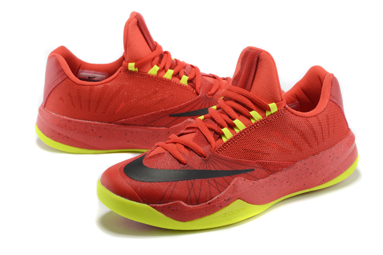 Men Nike Air Zoom The One Red Green Black Basketball Shoes
