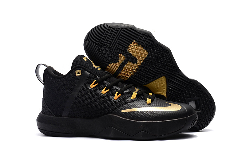 Men Nike Ambassador 9 Black Gold Shoes