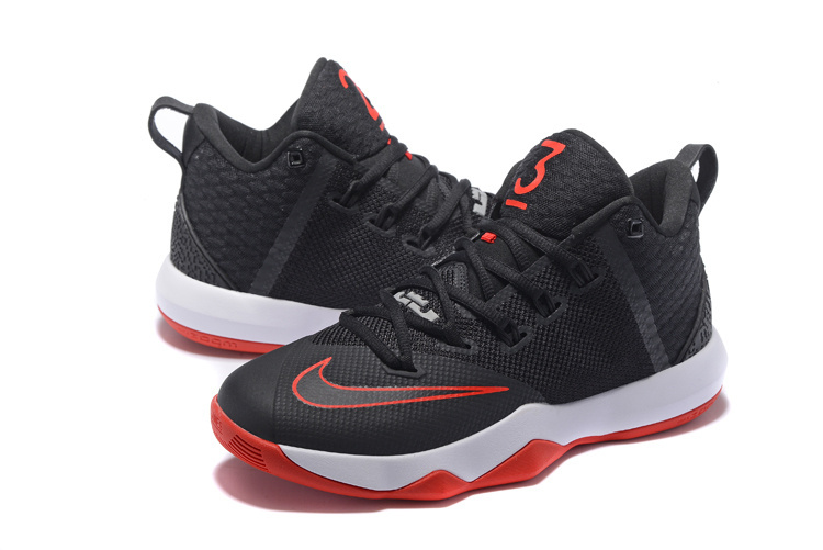 Men Nike Ambassador 9 Black Red White Shoes