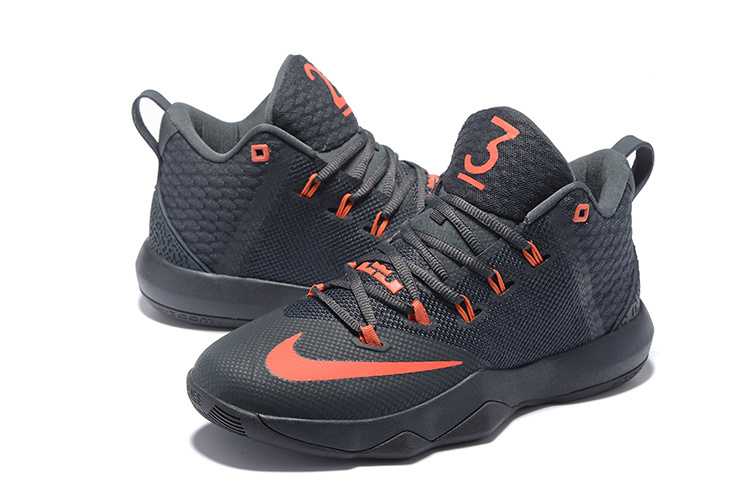 Men Nike Ambassador 9 Black Reddish Orange Shoes