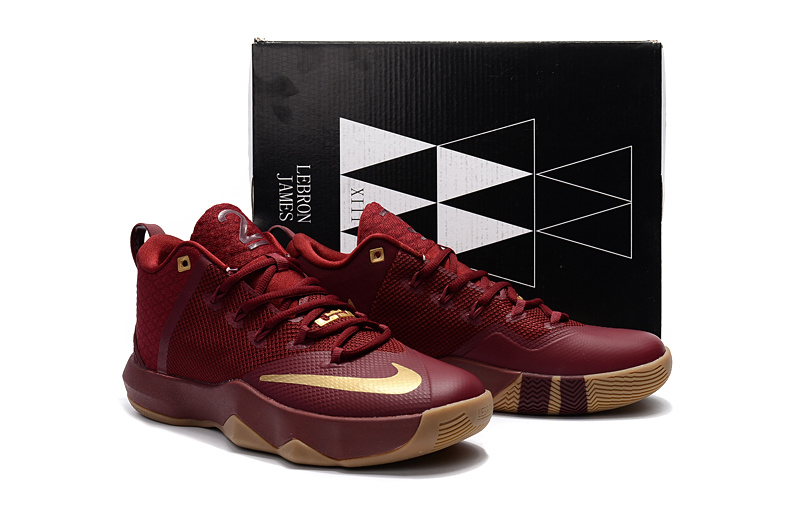 Men Nike Ambassador 9 Red Gold Shoes