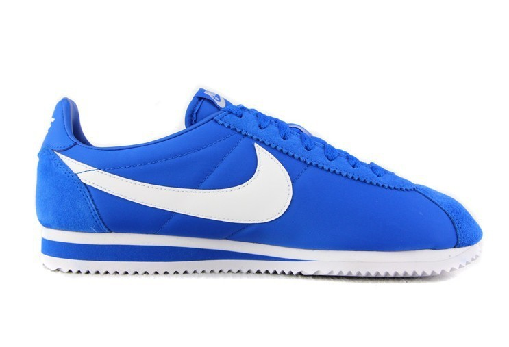 Men Nike Classic Cortez Nylon Blue White Shoes
