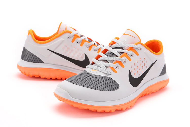 Nike FS Lite Run White Grey Orange
