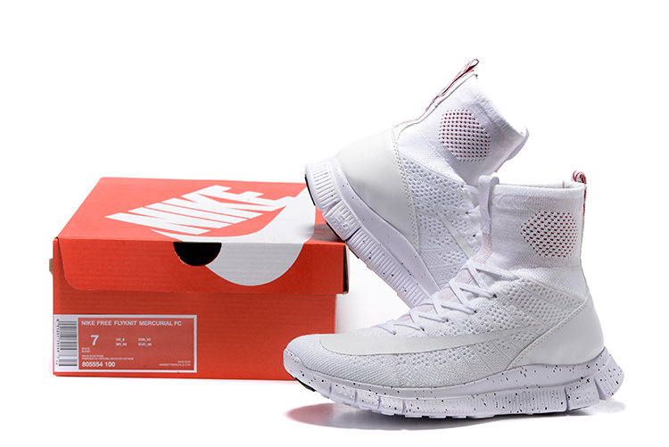 New Nike Free 5.0 Mercurial SuperFly All White Red Running Running Shoes