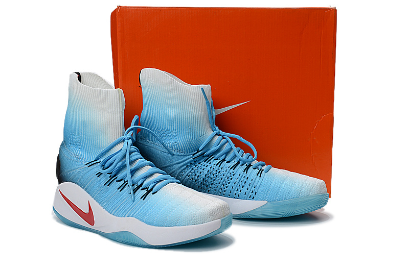 54bec91ef75853 nike hyperdunk flyknit sky blue and white Mens shoes ...