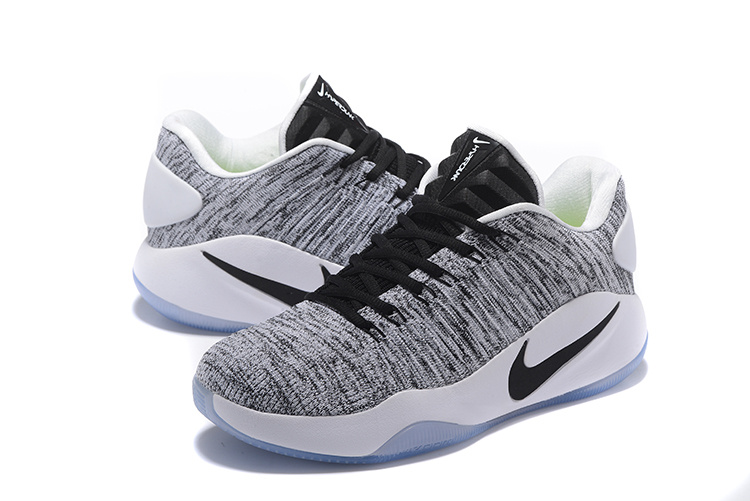 Men Nike Hyperdunk 2016 Flyknit Low Grey Black Shoes