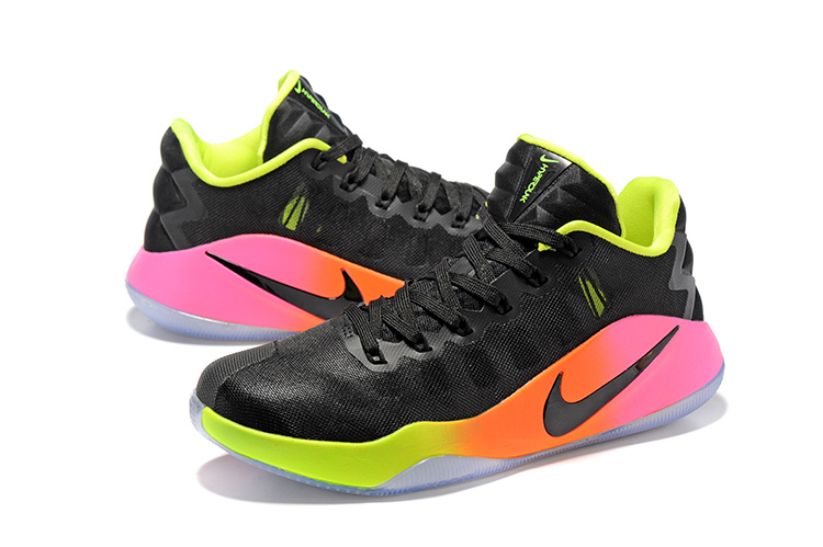 best cheap 17c4c cc79f ... authentic men nike hyperdunk 2016 low black orange green basketball  shoes cc45c ccc89