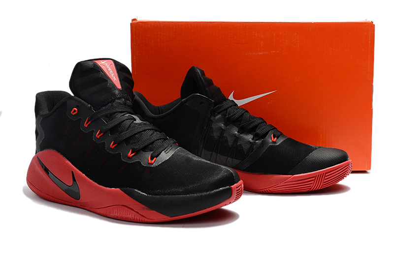 Men Nike Hyperdunk 2016 Low EP Black Red Basketball Shoes