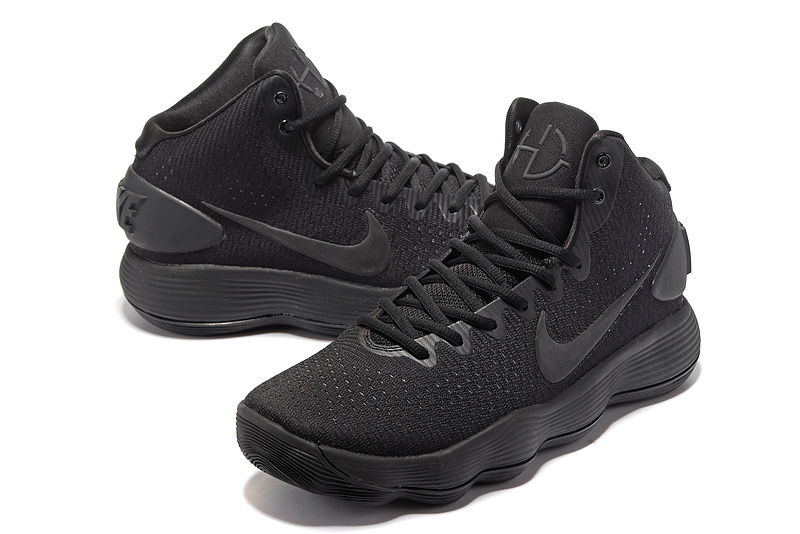 Men Nike Hyperdunk 2017 All Black Shoes