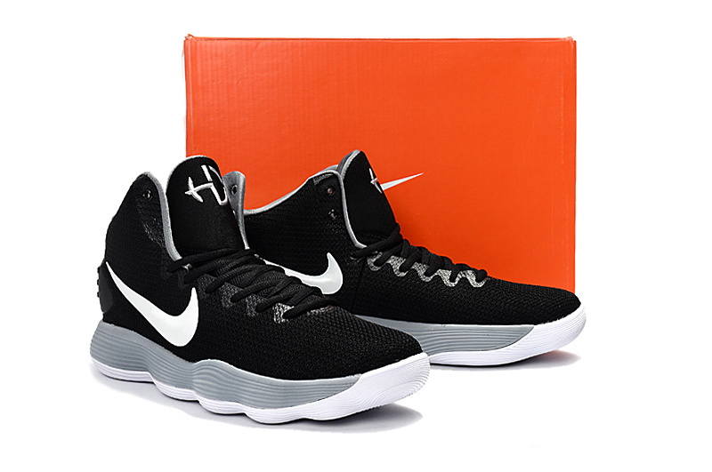 Men Nike Hyperdunk 2017 Black Grey White Shoes