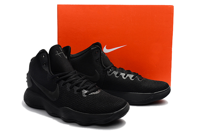 Men Nike Hyperdunk 2017 EP All Black Shoes