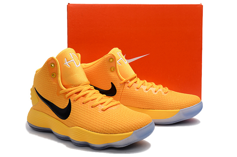 Men Nike Hyperdunk 2017 EP Yellow Black Shoes