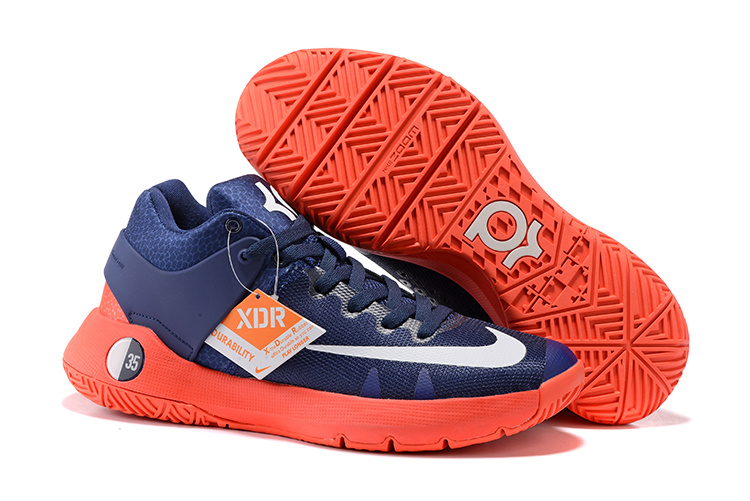 Men Nike KD Trey 5 Deep Blue Red White Shoes
