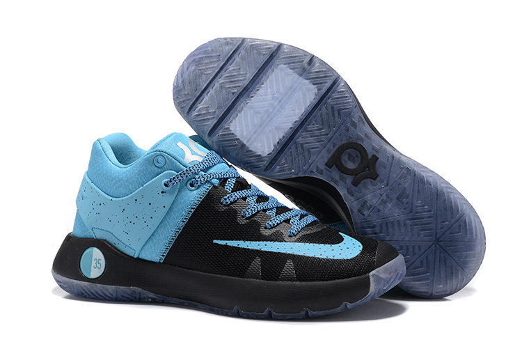 Men Nike KD Trey 5 IV Black Jade Blue Shoes