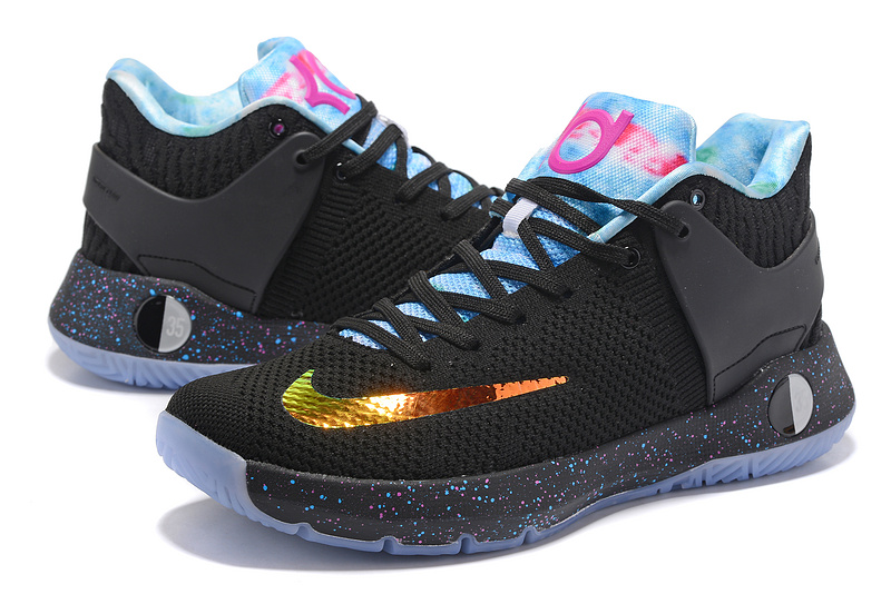 309281093b6a Men Nike KD Trey 5 Knit Black Gold Blue Pink Shoes  NBAKETBALL491 ...