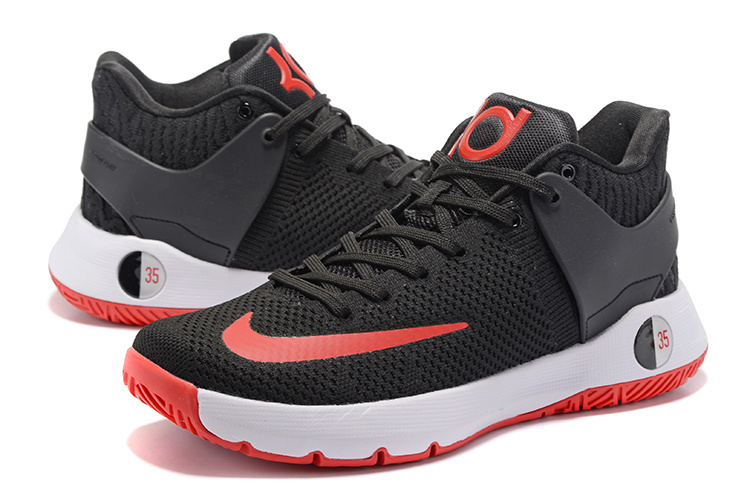 Men Nike KD Trey 5 Knit Black Red White Shoes