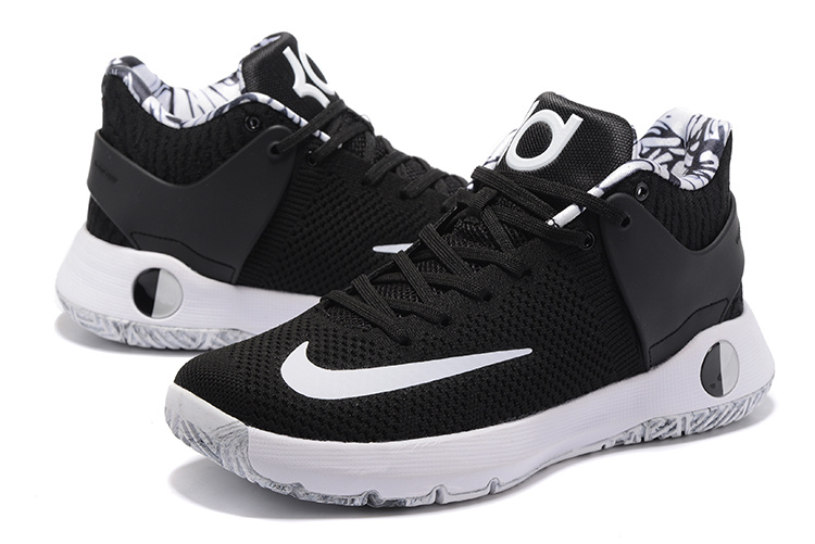 Men Nike KD Trey 5 Knit Black White Shoes