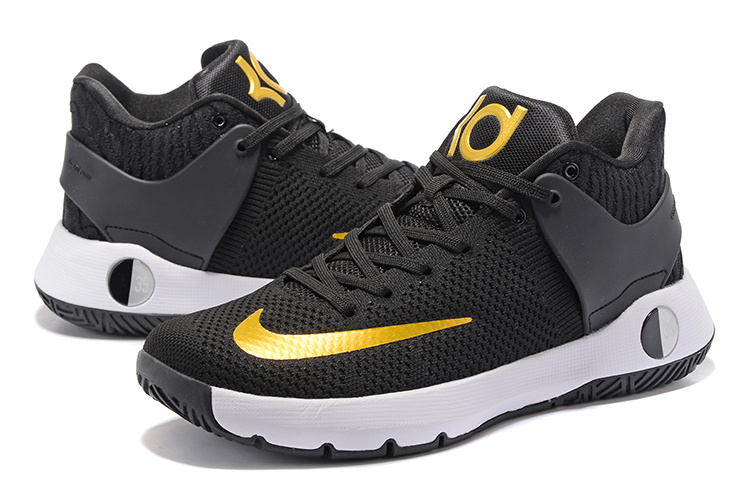 Men Nike KD Trey 5 Knit Black Yellow Shoes