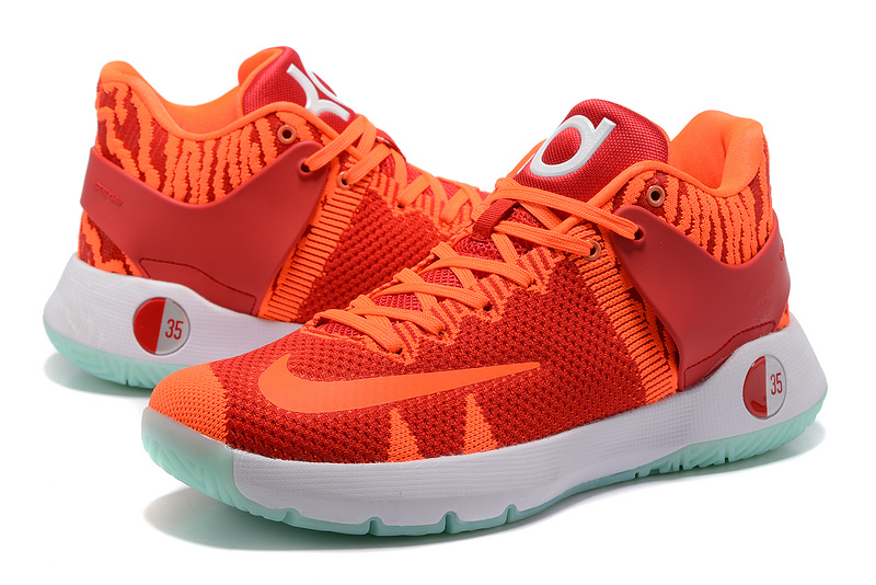 Men Nike KD Trey 5 Knit Red Orange Shoes