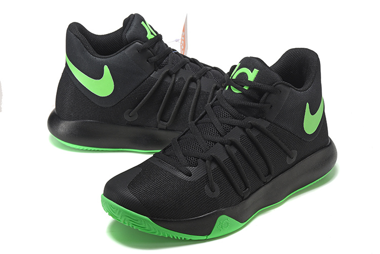 Men Nike KD Trey 6 Black Green Shoes