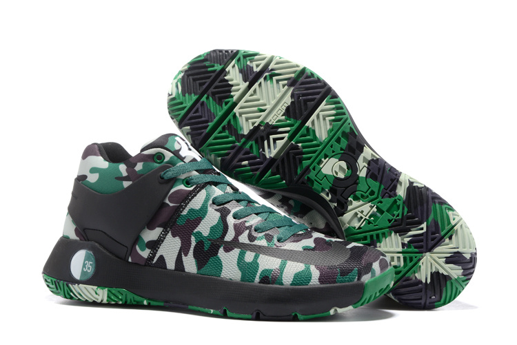 Men Nike KD Trey Premium Camouflage Green Shoes