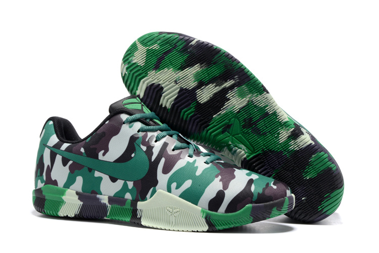 Men Nike Kobe 11 3M Camouflage Green Shoes