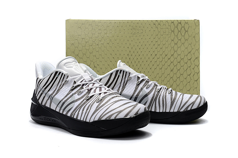 6fc1fad2e1cf Men Nike Kobe 12 Zebra Shoes  NBAKETBALL555  -  82.00   Real Nike ...