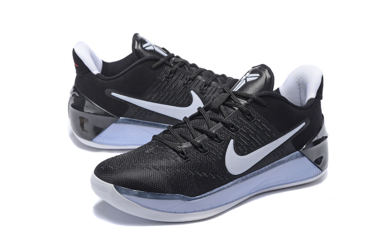 Men Nike Kobe 12 Black White Basketball Shoes