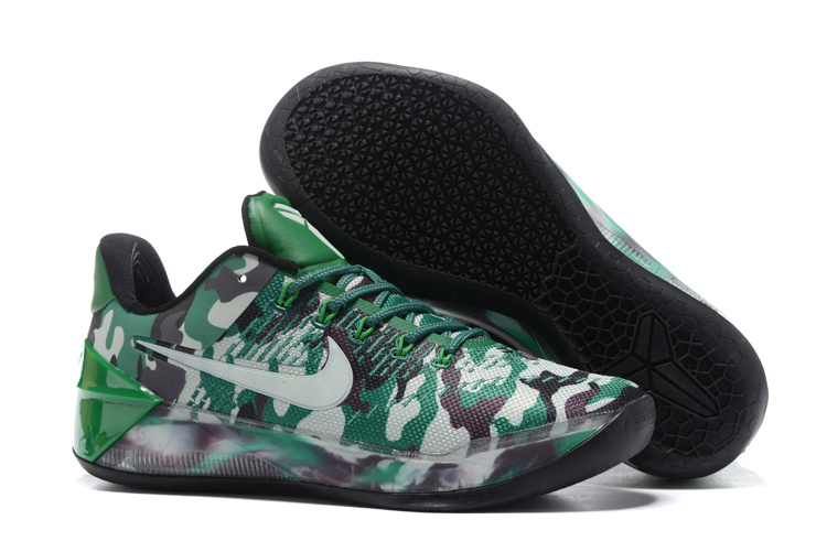 Men Nike Kobe 12 Camouflage Green Shoes