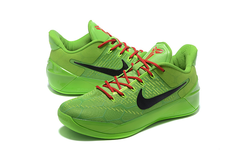 Men Nike Kobe A.D All Green Black Basketball Shoes