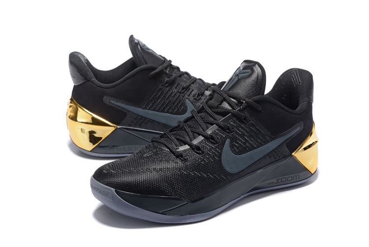 Men Nike Kobe A.D Black Gold Basketball Shoes