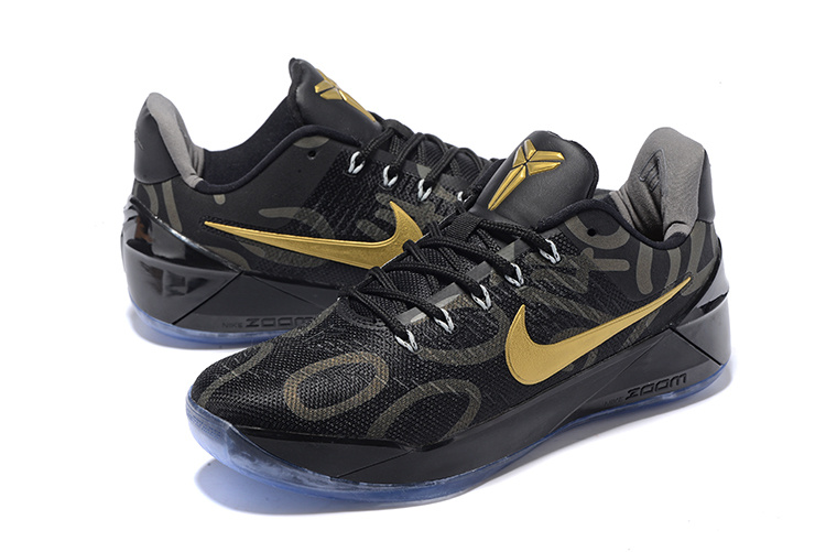 Men Nike Kobe A.D Black Gold Shoes