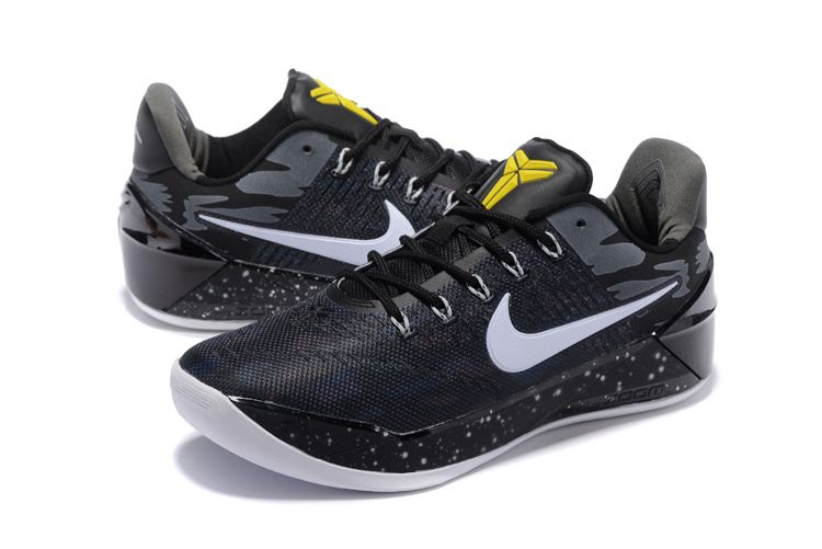 Men Nike Kobe A.D Black White Yellow Shoes