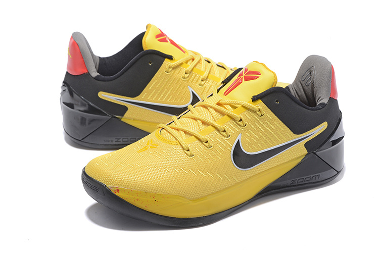 Men Nike Kobe A.D Bruce Lee Yellow Black Shoes