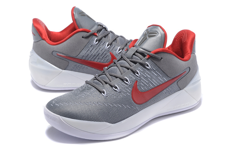 Men Nike Kobe A.D Carbon Grey Red Basketball Shoes