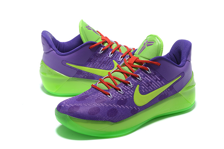 Men Nike Kobe A.D Purple Green Red Basketball Shoes
