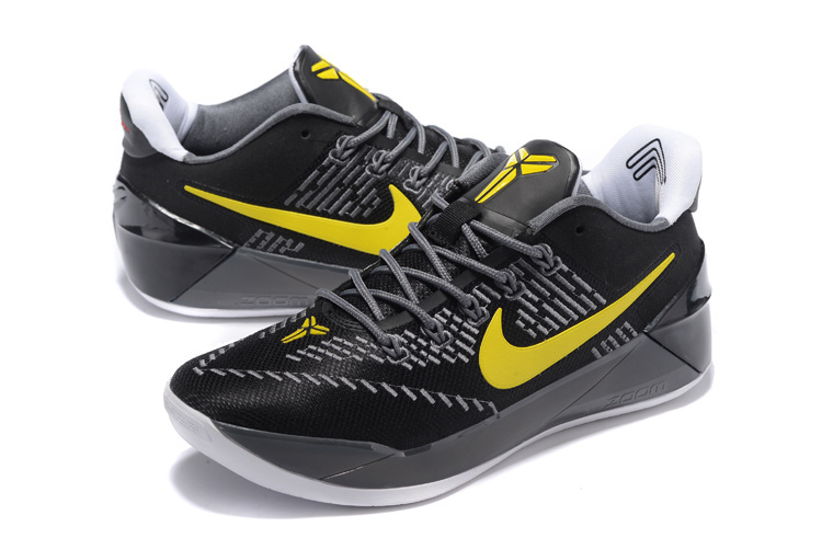 Men Nike Kobe A.D. EP Black Yellow Basketball Shoes