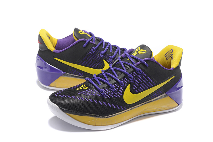 Men Nike Kobe A.D. EP Purple Black Yellow Basketball Shoes