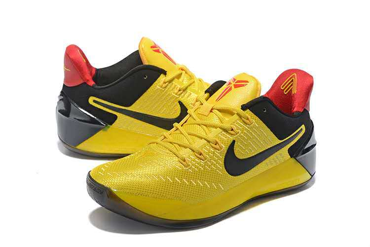 Men Nike Kobe Bryant A.D Yellow Black Red Basketball Shoes